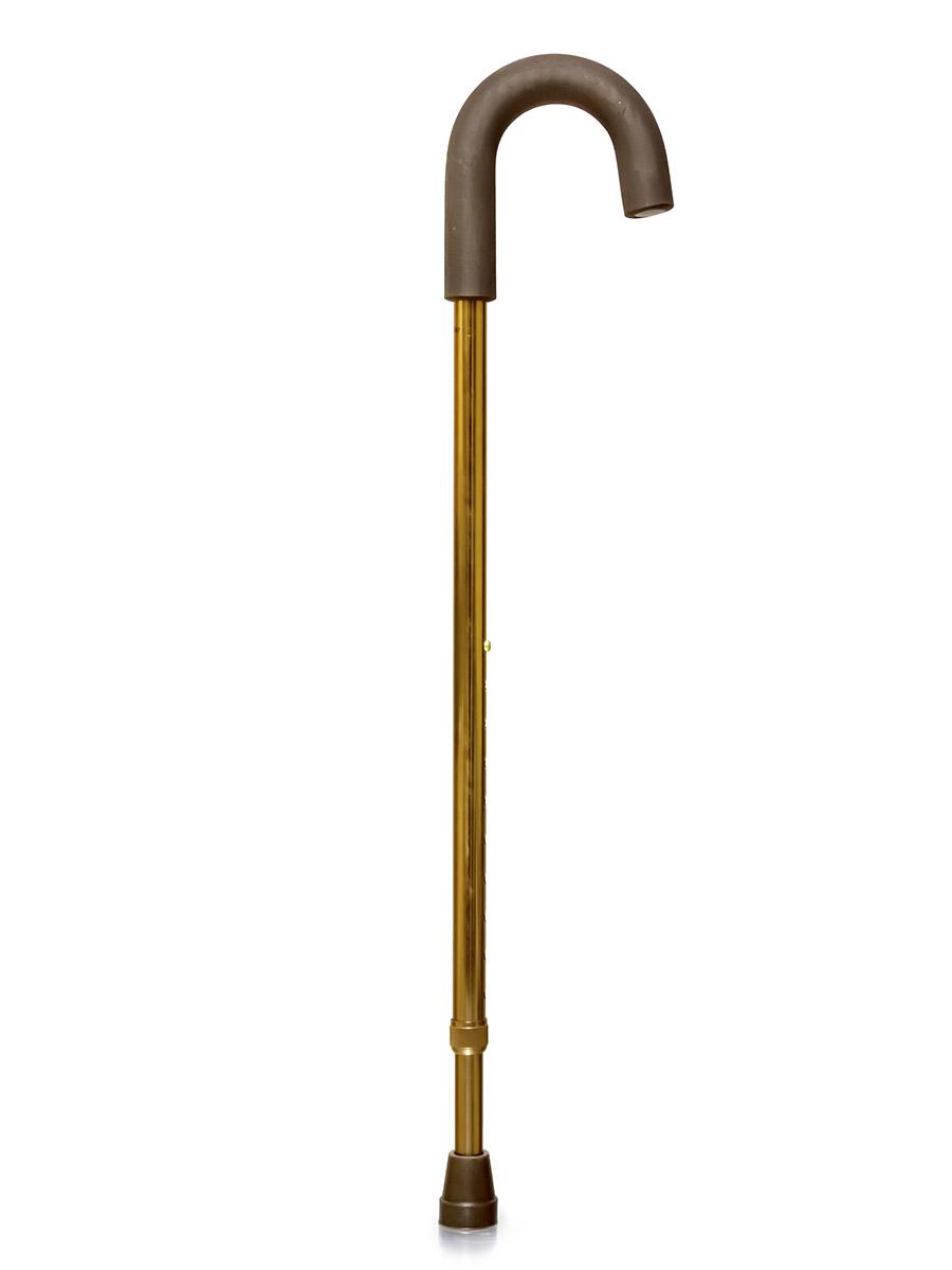 Amrus Трость телескопическая металлическая с закругленной рукояткой AMCС31HX8331/01Телескопическая металлическая трость с закругленной рукояткой. Рукоятка круглая, резиновая с обмягчением. Такая форма рукоятки рекомендуется пациентам с артритом и артрозом кистей рук. Она обеспечивает удобный захват трости. При необходимости такую трость можно удобно повесить на руку или на любой выступ.