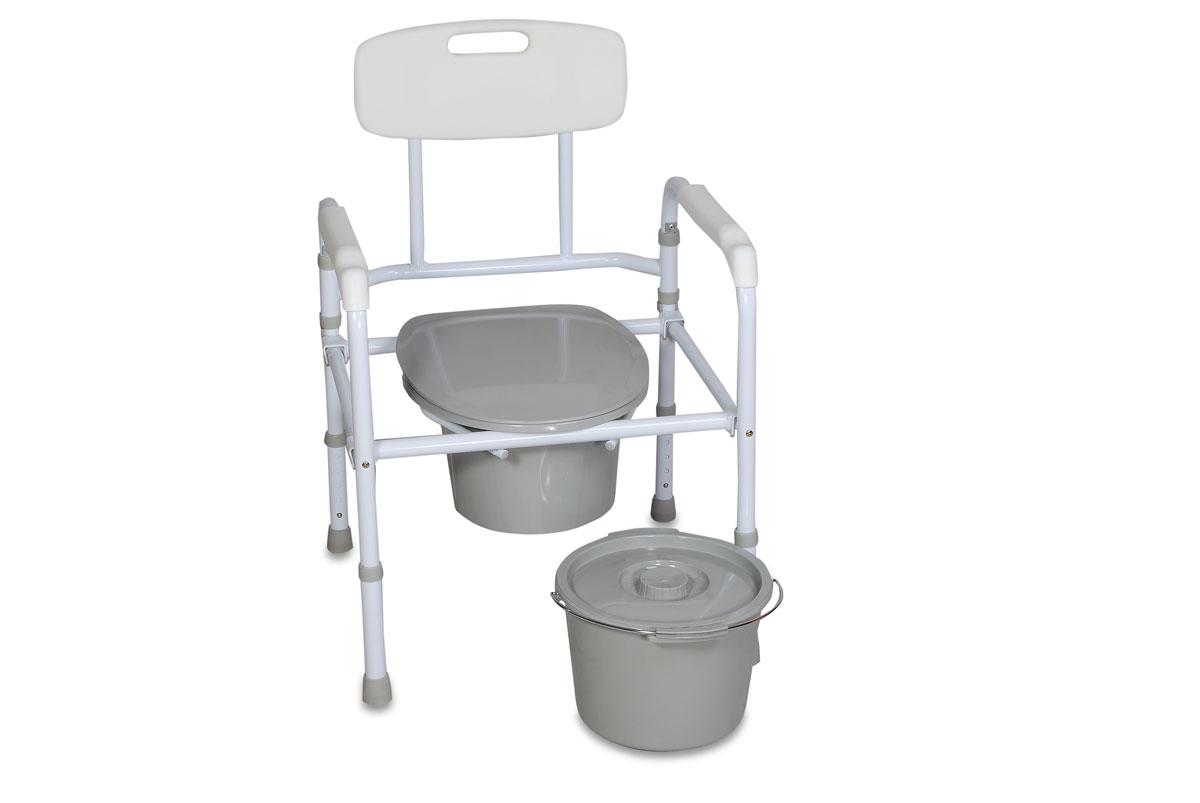 Amrus Кресло-туалет складное со спинкой, регулируемое по высоте AMCB6806 - Санитарные приспособления