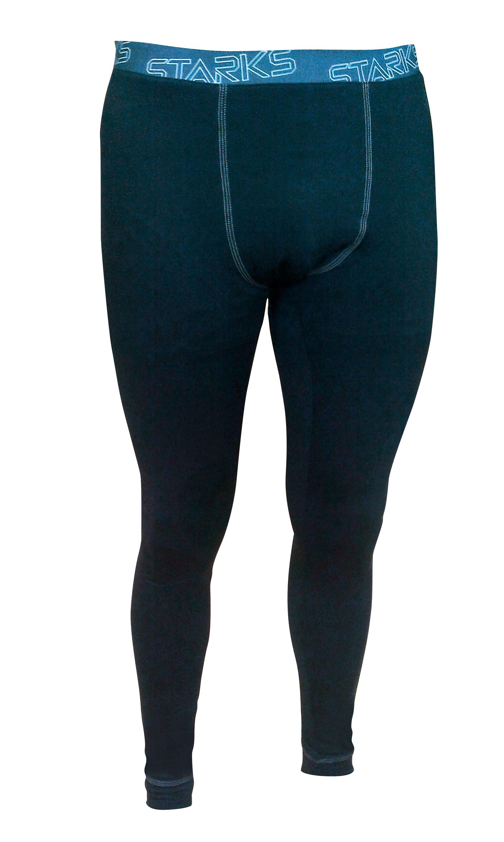 """Термобелье брюки мужские Starks """"Warm"""", зимние, цвет: черный. ЛЦ0023. Размер XL"""