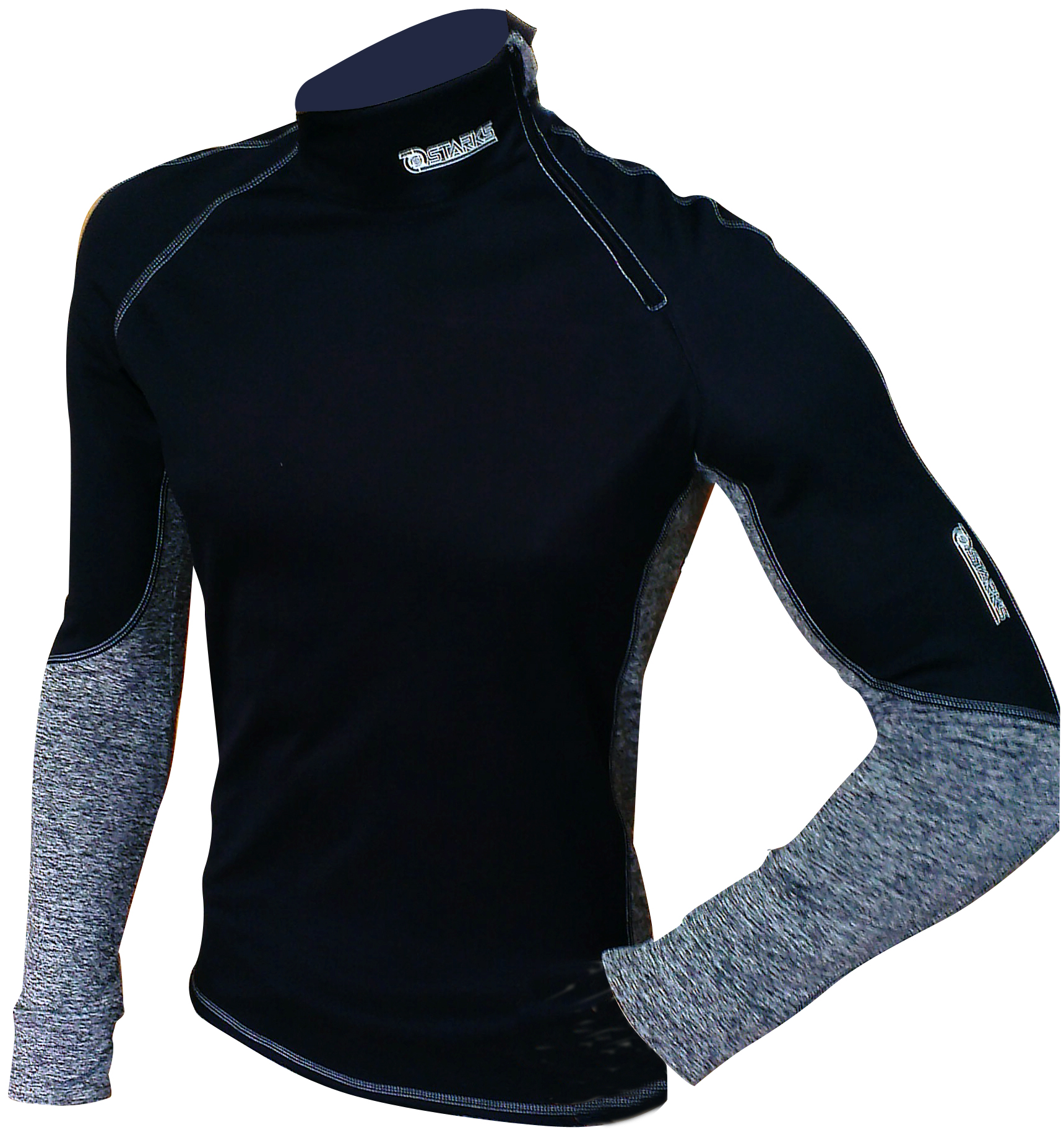 Термобелье кофта Starks Warm Extreme, зимняя, цвет: черный, серый. ЛЦ0012. Размер XLi6HRwhitestrapВысокотехнологичное термобелье Starks Warm Extreme гарантированно на 100% не пропускает ветер, хорошо тянется и выпускает влагу наружу.Белье рекомендуется для использования не только спортсменам зимних видов спорта, но и парашютистам, мотоциклистам, велосипедистам - всем, кто испытывает дискомфорт при сильном ветре, повышенной влажности. Анатомическое, выполнено из европейской сертифицированной ткани PolarStretch и WindStopper. Высокие эластичные свойства материала позволяют белью максимально повторять индивидуальную анатомию тела. Отличные влагоотводящие свойства, позволяют телу оставаться сухим. Термоизоляционные свойства, позволяют исключить переохлаждение или перегрев. Воротник стойка обеспечивает защиту шеи от холода. Застежка-молния обеспечивает легкое одевание кофты.Особенности: - Stop Bacteria - ткань с ионами серебра, предотвращает образование и развитие бактерий. Исключено образование запаха.-Защита от перегрева или переохлаждения.-Система мягких и плоских швов.-Гипоаллергенно. Состав: 92% полиэстер, 8% эластан.