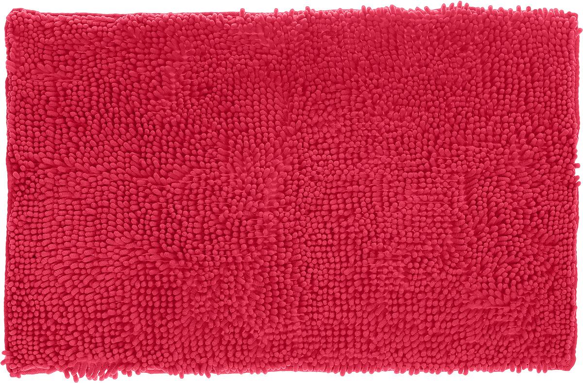 Коврик для ванной комнаты Top Star, цвет: ярко-розовый, 80 х 50 см57052_ светло-коричневыйКоврик Top Star, выполненный из 100% полиэстера, с высоким ворсом и противоскользящей пропиткой прекрасно подходит для ванной комнаты. Он мягкий и приятный на ощупь, отлично впитывает влагу и быстро сохнет. Высокая износостойкость коврика и стойкость цвета позволит наслаждаться изделием долгие годы.Рекомендации по уходу: - можно стирать в стиральной машине при 40°С, - не использовать отбеливатели, - не гладить,- барабанная сушка запрещена.