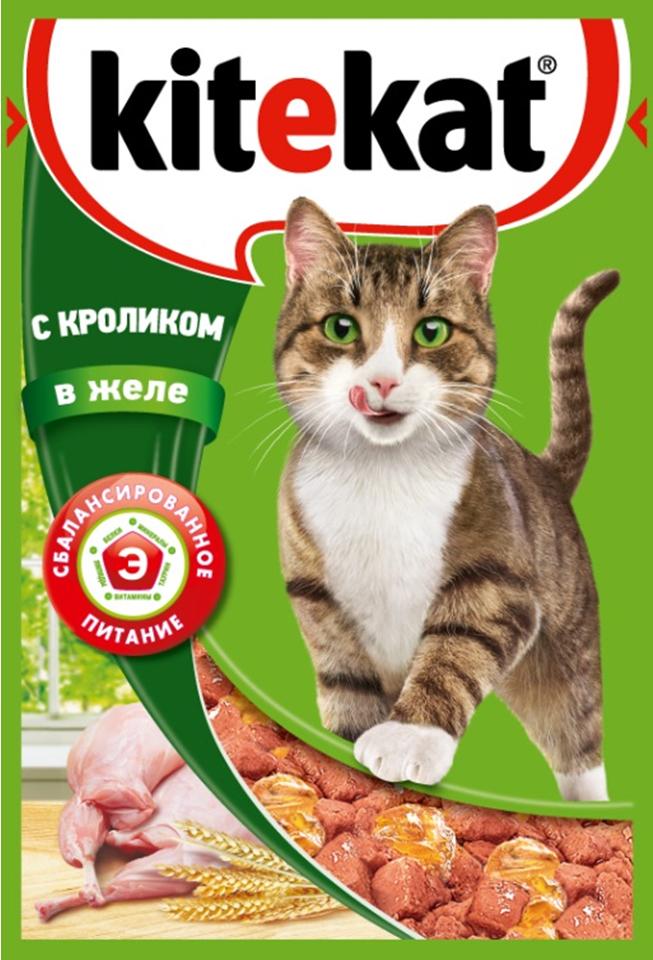 Консервы Kitekat для взрослых кошек, с кроликом в желе, 85 г41377Консервы Kitekat - это порция сочных кусочков с кроликом, приготовленных по особому рецепту. В основе корма формула сбалансированного питания, которая содержит белки, минералы, витамины, таурин и животные жиры. Порадуйте вашего питомца - в каждой порции только качественные продукты, как и те, что на вашей кухне: мясные ингредиенты, злаки и жиры животного происхождения. Все натуральные свойства сохранены и правильно сбалансированы для энергии и здоровья вашего кота. Товар сертифицирован.