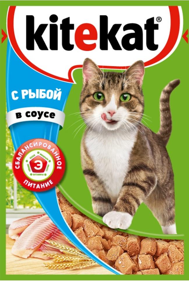 Консервы Kitekat для взрослых кошек, с рыбой в соусе, 85 г41379Консервы Kitekat - это порция сочных кусочков с рыбой, приготовленных по особому рецепту. В основе корма формула сбалансированного питания, которая содержит белки, минералы, витамины, таурин и животные жиры. Порадуйте вашего питомца - в каждой порции только качественные продукты, как и те, что на вашей кухне: мясные ингредиенты, злаки и жиры животного происхождения. Все натуральные свойства сохранены и правильно сбалансированы для энергии и здоровья вашего кота. Товар сертифицирован.