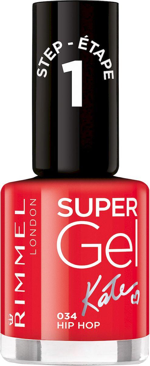 Rimmel Super Gel Kate nail polish Гель-лак для ногтей, тон 034 огненный алый, 12 мл28032022Коллекция эксклюзивных оттенков от Кейт Мосс для еще более модного гелевого маникюра! STEP 6
