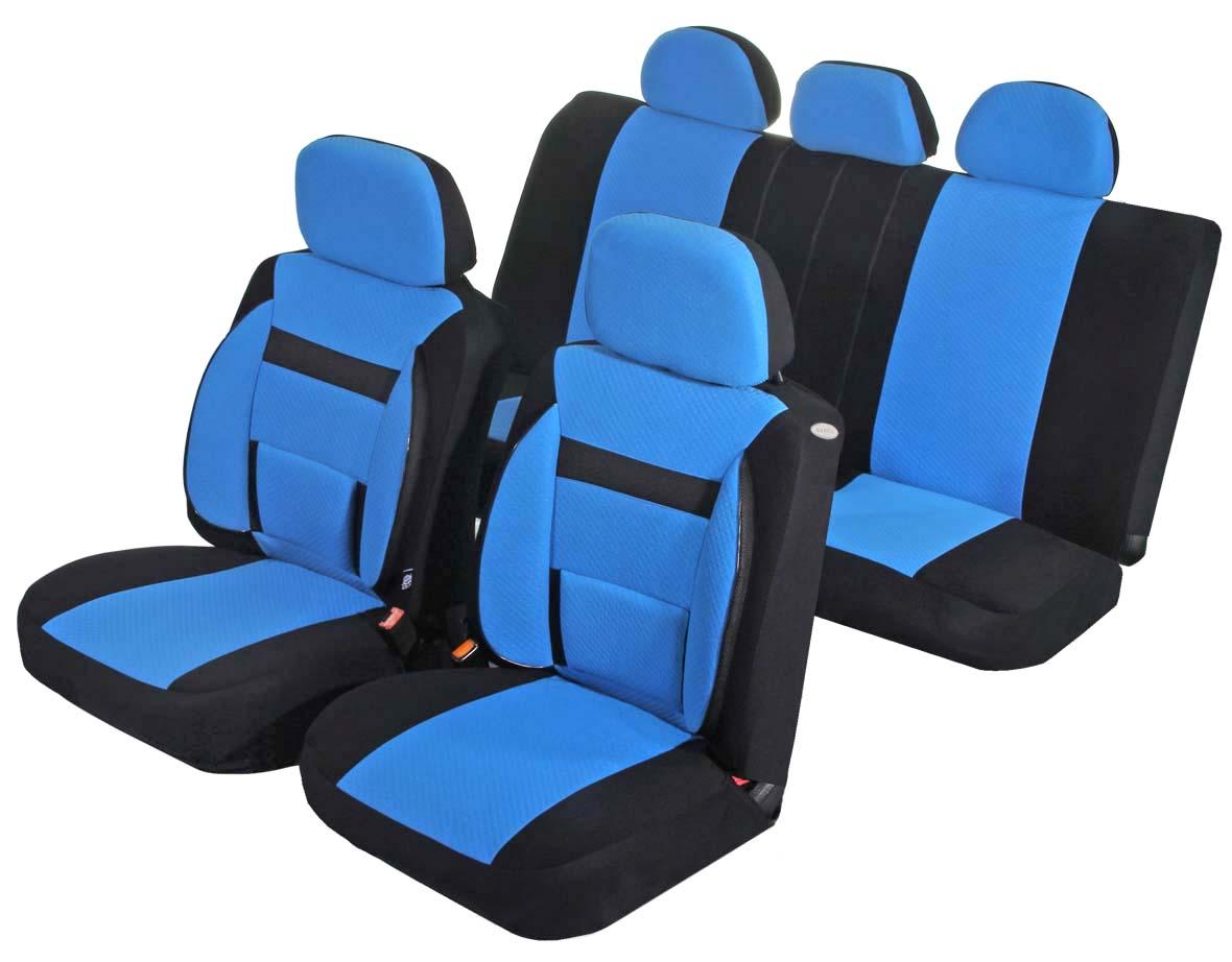 Чехлы для сидений Azard Support, универсальные, 11 предметов, цвет: синийCA-3505Универсальные чехлы из автомобильного велюра. Применимы для 95% легкового автопарка РФ.Благодаря особому крою типа В чехлы идеально облегают сидения автомобиля. Специальный боковой шов позволяет применять авто чехлы в автомобилях с боковыми подушками безопасности (AIR BAG).Ортопедическую поддержку спины и ног по достоинству оценят водители, проводящие за рулем длительное время.Раздельная схема надевания обеспечивает легкую установку авто чехлов. Дополнительное удобство создает наличие предустановленных крючков, утягивающего шнура, фиксирующей липучки на передних спинках, а также предустановленной прорези для установки подголовника.Материал триплирован огнеупорным поролоном 3 мм, за счет чего чехол приобретает дополнительную мягкость и устойчивость к возгоранию.Авточехлы Azard Support износоустойчивы и легко стирается в стиральной машине.