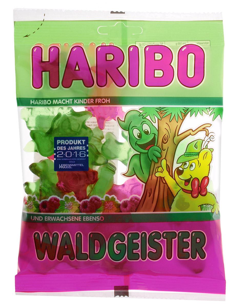 Haribo Waldgeister жевательный мармелад, 200 г0120710Waldgeiste - жутко вкусные и пугающе великолепные лесные духи и призраки от Haribo. Экстра мягкое желе со вкусом малины и тархуна гарантированно повеселит вас и вашу семью.