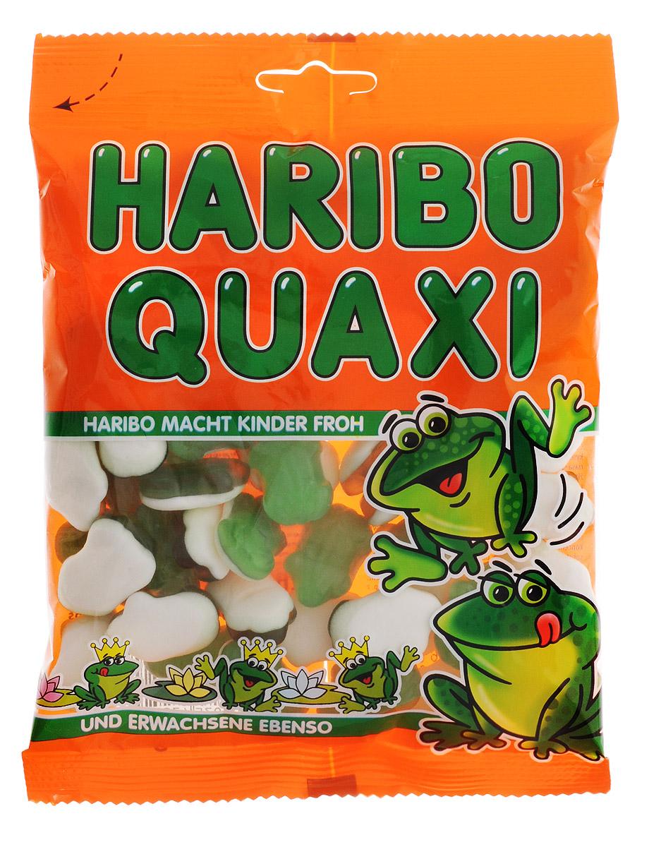 Haribo Лягушки жевательный мармелад, 200 г0120710У лягушек Haribo белый животик из нежно вспененной сахарной массы с ароматом персика, а сверху – зеленый мармелад с добавлением мандаринового сока. Ни одна лягушка Haribo не содержит искусственных красителей и химических добавок.Натуральная мармеладная лягушка – натуральное мармеладное удовольствие!