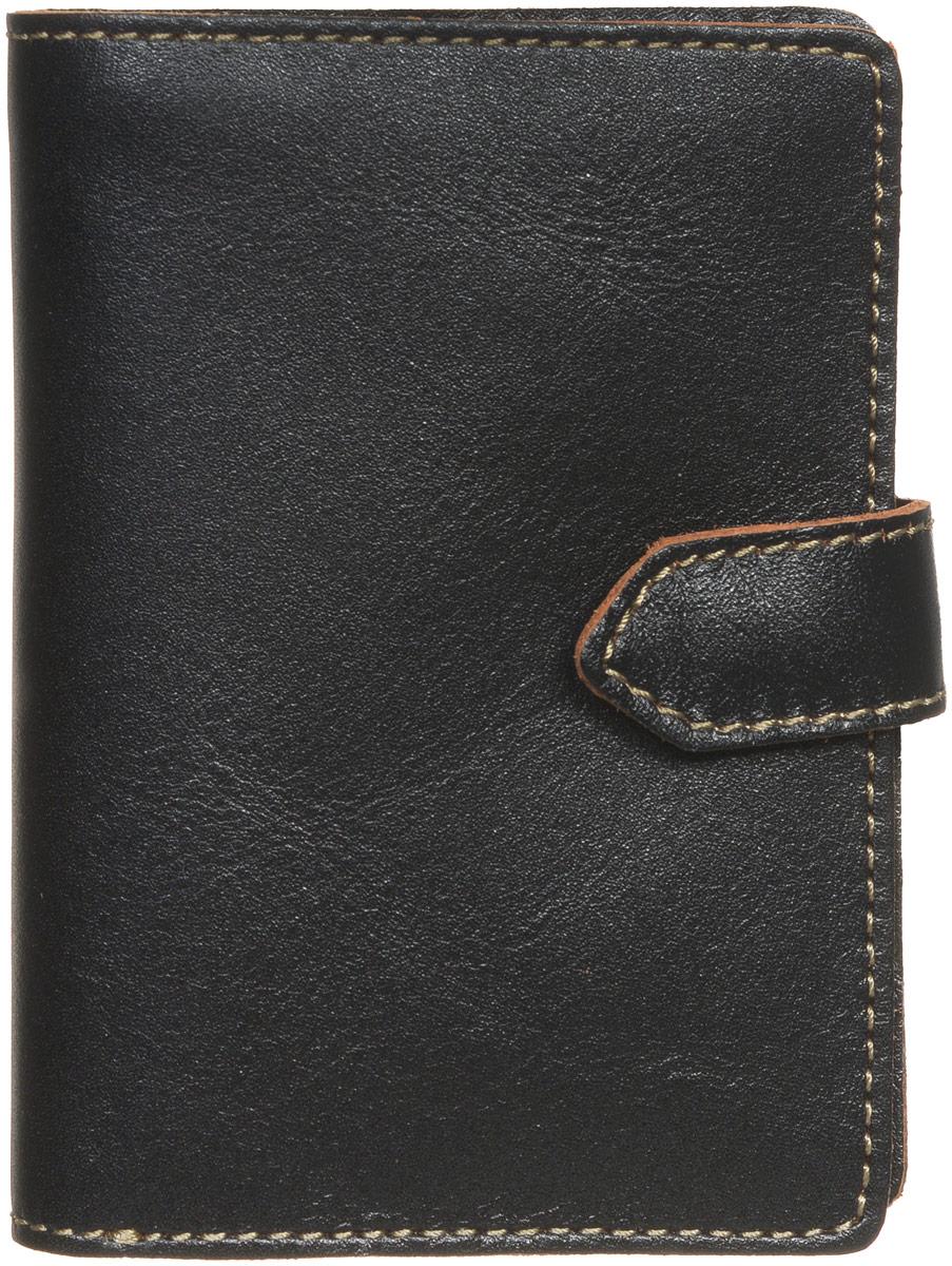 Портмоне мужское Fabula Kansas, цвет: черный. PM.7.TXFINT-06501Стильное мужское портмоне Fabula Kansas изготовлено из натуральной кожи и оформлено контрастной отделочной строчкой.Изделие раскладывается пополам, закрывается хлястиком на кнопку. Внутри расположены два отделения для купюр, карман для монет на кнопке, прорезной потайной карман, откидное отделение для пластиковых карт, включающее в себя три прорезных кармашка, закрывается хлястиком на кнопку.Стильное портмоне непременно подойдет к вашему образу и порадует простотой, стилем и функциональностью.