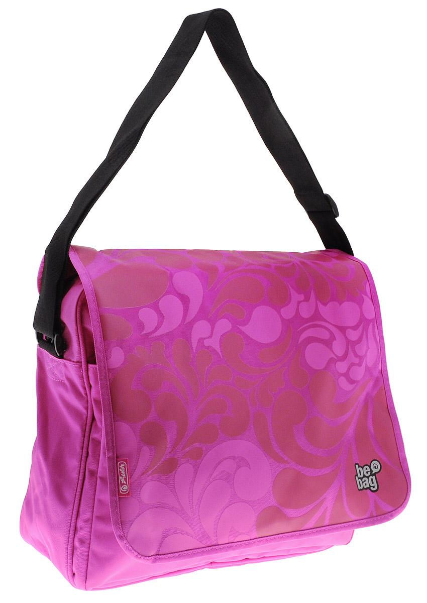 Herlitz Сумка школьная Be Bag Ornament Pink86797Школьная сумка Herlitz Be Bag. Ornament Pink выполнена из прочного и износостойкого материала розового цвета.Сумка содержит одно вместительное отделение, закрывается на застежку-молнию с двумя бегунками и сверху клапаном. Клапан можно снимать и переворачивать. Также сумку можно использовать без клапана. Внутри отделения находятся большой карман на застежке-молнии и два открытых кармана-сетки. На лицевой стороне под клапаном находится вместительный карман на молнии, внутри которого находится открытый карман и органайзер для канцелярских принадлежностей, содержащий карман под мобильный телефон, карман на молнии, карман-сетку, три небольших открытых кармана и ленту с карабином для ключей.Сумка оснащена широким плечевым ремнем, регулируемым по длине.