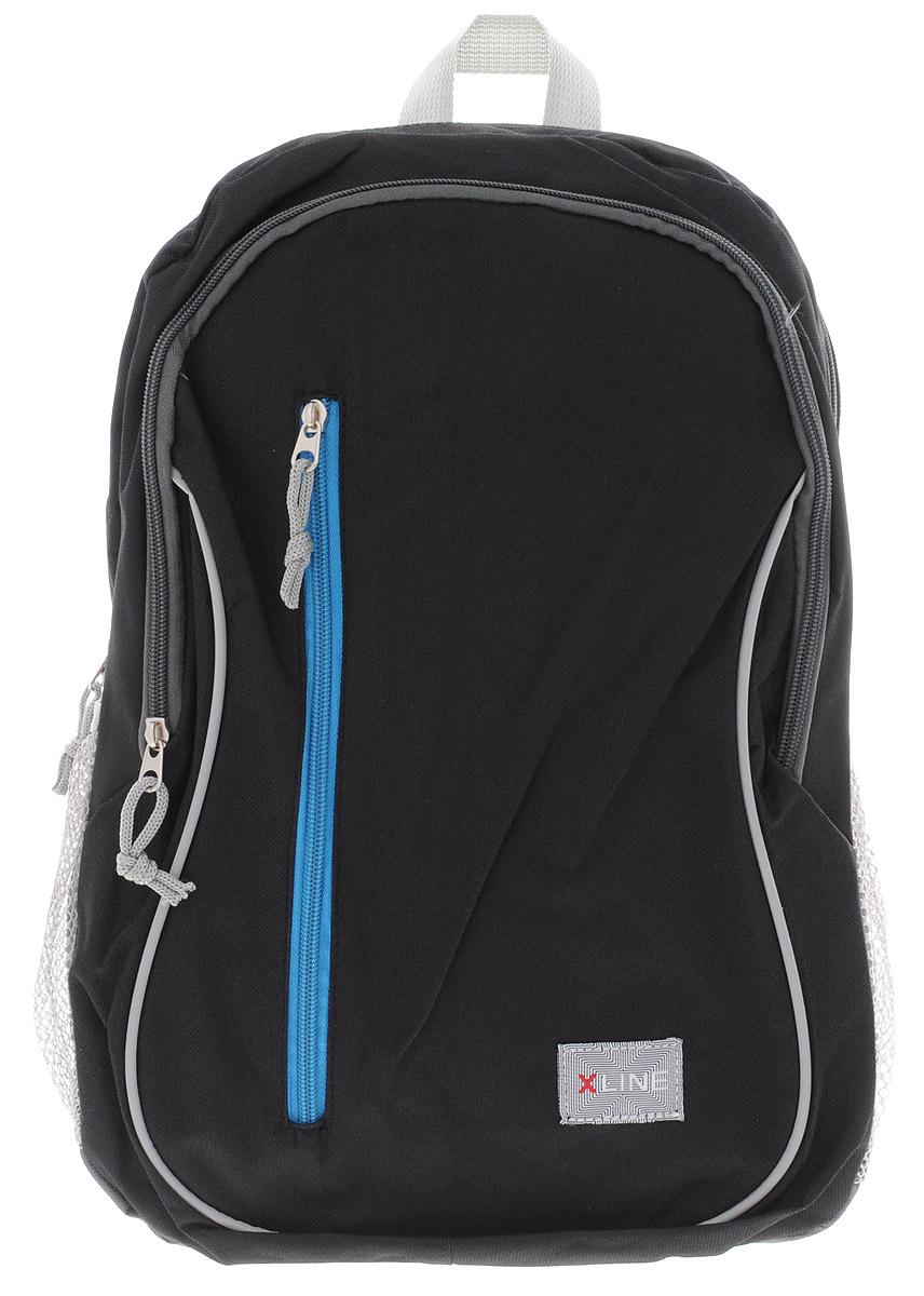 Proff Рюкзак детский X-line цвет черный серый86822Детский рюкзак Proff X-line обязательно понравится вашему школьнику. Выполнен рюкзак из прочного и высококачественного полиэстера.Содержит два вместительных отделения, закрывающиеся на молнии. Лицевая сторона оснащена прорезным карманом на застежке-молнии. Бегунки на молниях дополнены удобными текстильными держателями. По бокам находятся два открытых кармана-сетки, стянутых сверху резинками. Мягкие широкие лямки регулируются по длине. Рюкзак оснащен текстильной ручкой для удобной переноски в руке. Многофункциональный школьный рюкзак станет незаменимым спутником вашего ребенка.