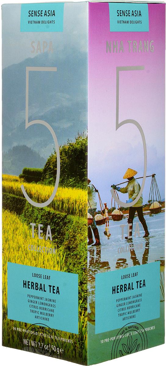 Sense Asia Vietnam Delights collection подарочный набор травяного чая 5 Herbal Tea, 75 г0120710Подарочный набор чая Sense Asia Vietnam Delights collection состоит из 5 видов травяного листового чая, по 3 стикера на каждый вид. Это своеобразный тестовый набор травяного вьетнамского чая для гурманов и начинающих ценителей.Каждый стикер внутри, имеет уникальную наклейку о стране, ее людях и самых знаменитых местах. Способ заваривания чая, для каждого вида индивидуален, для вашего удобства мы разместили на каждом стикере - способы приготовления чая.Подарочный набор чая Sense Asia Vietnam Delights collection состоит из бестселлеров мирового рынка: 5 видов травяного чая (Herbal Tea), Artichoke (Чай из цветков артишока), Tropic Mulberry (Тропическая Шелковица), Peppermint & Jasmine (Перечная мята и Жасмин, Ginger Lemongrass (Имбирь Лемонграсс), Citrus Hurricane (Цитрусовый Ураган.Уникальная упаковка – это три захватывающих панорамы самых живописных уголков Вьетнама: рисовые поля Сапы (знаменитое своими видами место на севера Вьетнама), соляные поля Ня Чанга (курортного города на юге страны), острова знаменитой бухты Халонг. Коллекция Vietnam Delights - лучший подарок для гурманов и начинающих ценителей чая!