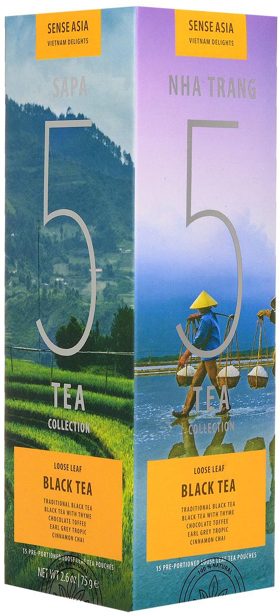 Sense Asia Vietnam Delights collection подарочный набор черного чая 5 Black Tea, 75 г amore de bohema для самой дорогой подарочный набор листового чая 400 г