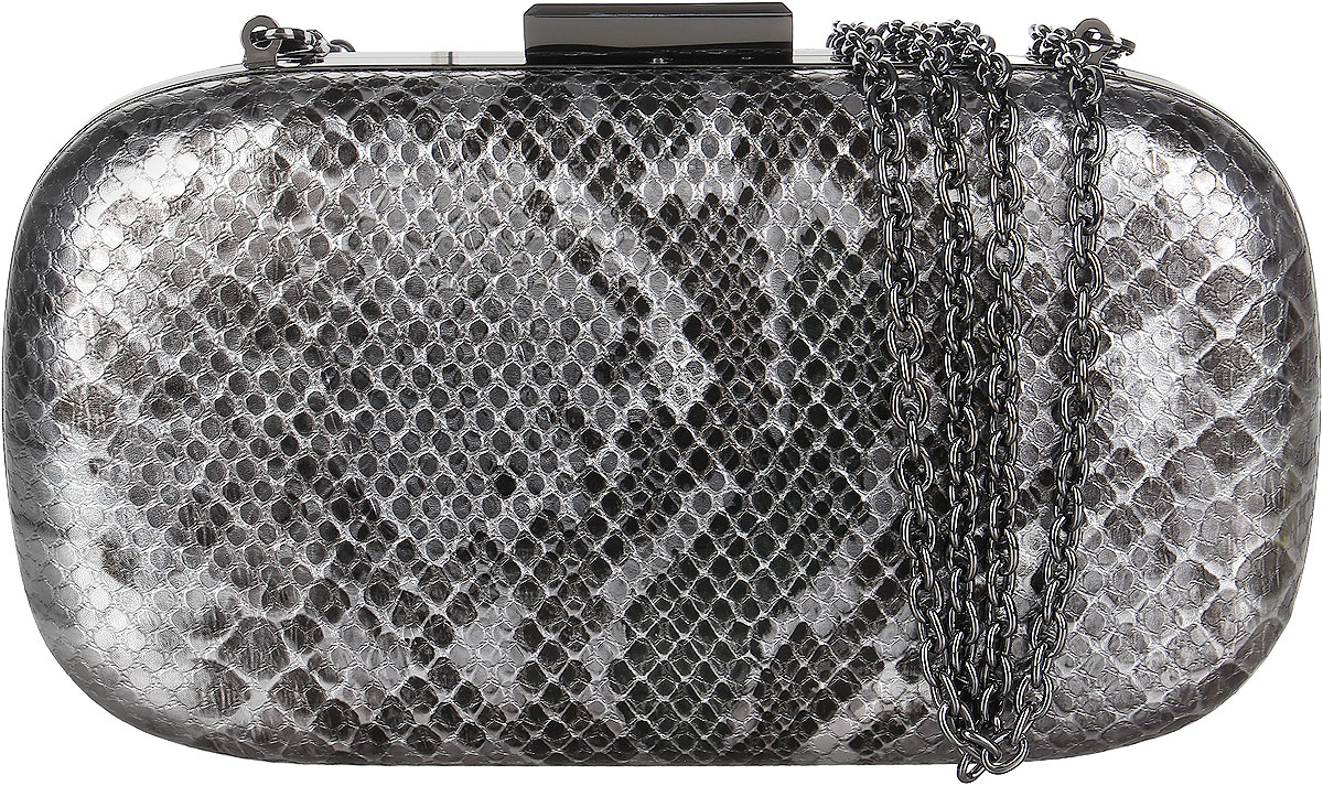 Клатч женский Vitacci, цвет: серебристый. C0109ML597BUL/DКлатч-бокс Vitacci выполнен из искусственной кожи с узором под рептилию. Несомненными преимуществами данной модели являются компактность и вместительность. Внутри - одно большое отделение, отделанное бархатистым материалом и кружевным шнуром. Клатч имеет жесткий корпус и закрывается на защелку. В комплекте пристежной плечевой ремень в виде цепочки.Такой клатч станет прекрасным и стильным подарком для любителей оригинальных аксессуаров и ценителей экзотики