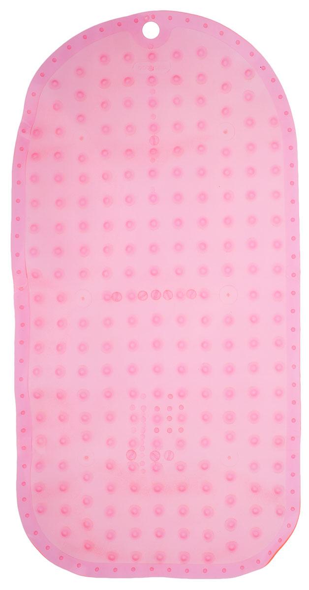 BabyOno Коврик противоскользящий для ванной цвет розовый 70 х 35 см -  Аксессуары для ванной комнаты