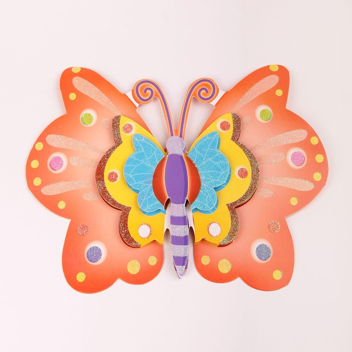 Наклейка декоративная Magic Home Бабочка, 35,5 х 25 см. 31825300173Яркая, забавная наклейка украсит не только детскую комнату, но и станет отличным дополнением к любому подарку. Наклейку можно использовать как украшение стен и, например, фасадов шкафов и различных ящиков.