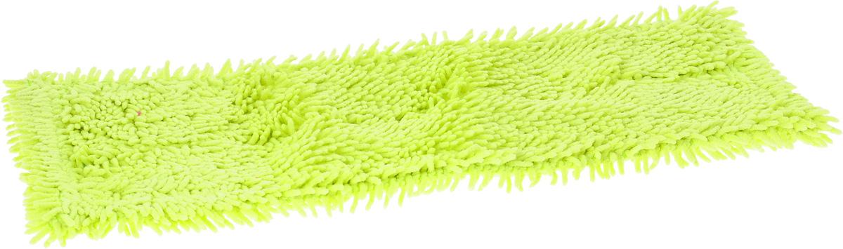 Насадка для швабры Мультидом Чистюля, цвет: лайм, 42 х 12 х 1 смLT58-81_лаймСменная насадка для швабры Мультидом Чистюля выполнена из микрофибры (80% полиэстер, 20% полиамид). Насадки из микроволокна обладают несколькими важными достоинствами: микроволокно в сухом виде в процессе протирания поверхности электризуется и притягивает к себе мельчайшие частицы пыли, а не разгоняет их по комнате. При влажной уборке, благодаря структуре микрофибрового волокна поглощать влагу в семь раз больше самой ткани, насадка хорошо впитывает и удерживает влагу, забирает в структуру ткани любые загрязнения, не оставляет разводов. Использование насадки для швабры Мультидом Чистюля позволяет очистить любые поверхности от пыли и грязи без использования химических средств.