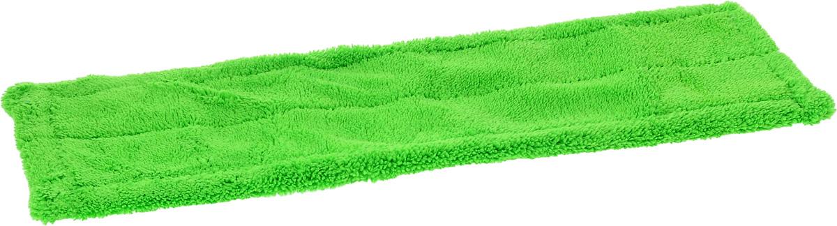 Насадка для швабры Мультидом Мойдодыр, цвет: зеленый, 43 х 13,5 х 1 смLT58-79_зелёныйСменная насадка для швабры Мультидом Мойдодыр выполнена из микрофибры (80% полиэстер, 20% полиамид). Насадки из микроволокна обладают несколькими важными достоинствами: микроволокно в сухом виде в процессе протирания поверхности электризуется и притягивает к себе мельчайшие частицы пыли, а не разгоняет их по комнате. При влажной уборке, благодаря способности микрофибрового волокна поглощать влагу в семь раз больше самой ткани, насадка хорошо впитывает и удерживает влагу, забирает в структуру ткани любые загрязнения, не оставляет разводов. Использование насадки для швабры Мультидом Мойдодыр позволяет очистить любые поверхности от пыли и грязи без использования химических средств.