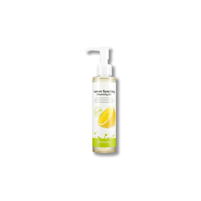 Secret Key Масло гидрофильное с экстрактом лимона Lemon Sparkling Cleansing Oil, 150 млFS-00897Масло создано на основе экстракта лимона и газированной воды, содержит виноградное, оливковое масло, масла соевых бобов. Эффективно растворяет загрязнения в порах, черные точки, комедоны, мягко очищает кожу даже от самого стойкого макияжа, ВВ и СС кремов.Объем: 150 мл