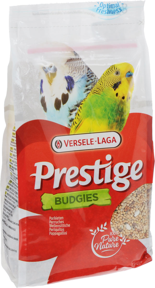 Корм для волнистых попугаев Versele-Laga Prestige Budgies, 500 г0120710Корм Versele-Laga Prestige Budgies - это традиционная полнорационная смесь для волнистых попугаев, а также других мелких пород. В состав данной высококачественной смеси входят разнообразные сбалансированные компоненты, особым образом подобранные в соответствии со специфическими пищевыми потребностями попугаев. Корм содержит злаки и семена, обеспечивающие оптимальную кондицию и пищеварение.Товар сертифицирован.
