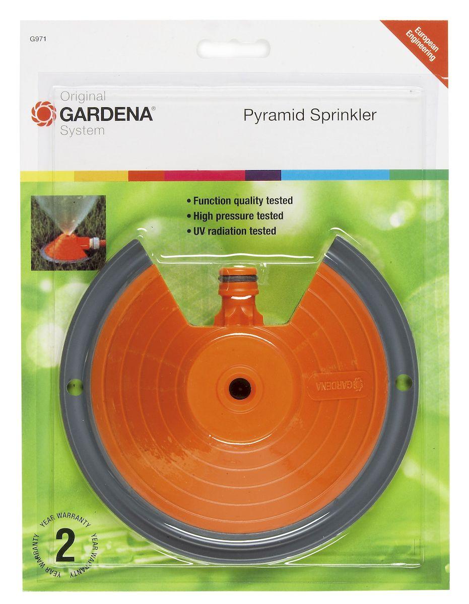 Дождеватель Gardena Pyramid, круговойES-412Дождеватель Gardena Pyramid - это идеальное решение для полива небольших садовых участков. Данный круговой дождеватель, выполненный из высококачественного пластика, предназначен для газонов площадью до 50 м2. Устройство оснащено монтажными отверстиями для закрепления на газоне. Радиус полива: 4 м.Maксимальная дальность полива: 8 м.Рабочее давление: 3 бар.Сектор полива: 360 °.
