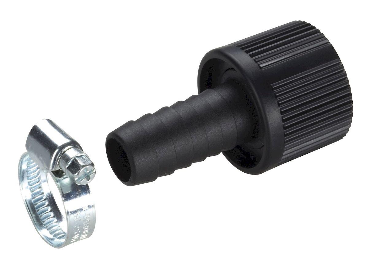 Коннектор для заборного шланга Gardena, 19 мм (3/4)1.645-504.0Коннектор Gardena предназначен для герметичного соединения заборного шланга нужной длины с насосом. Для повышения надежности соединения в комплект поставки включен хомут. Коннектор диаметром 19 мм (3/4 дюйма); Внутренняя резьба 33,3 мм (G 1).