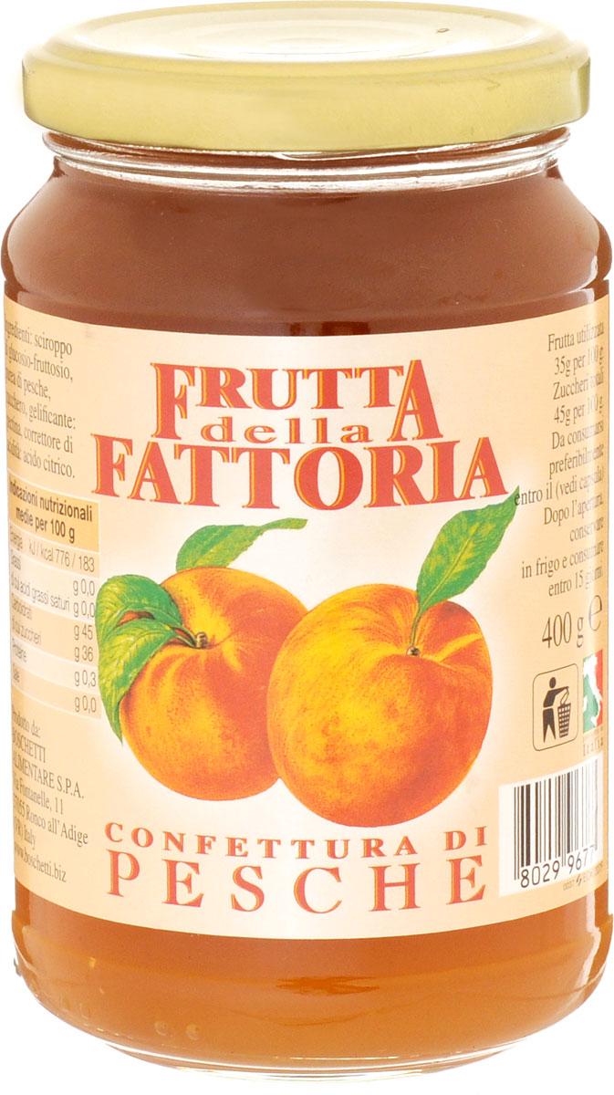 Boschetti джем персиковый, 400 гA#0207AFКлассический итальянский джем из ароматных персиков. Прекрасно подходит для сладких начинок или как дополнение к разным блюдам: от мороженого и йогуртов до блинчиков. Персиковый джем изготовлен только из свежих фруктов, собранных в период полной спелости. За счет этого джем имеет естественный персиковый аромат и вкус.Уважаемые клиенты! Обращаем ваше внимание, что полный перечень состава продукта представлен на дополнительном изображении.