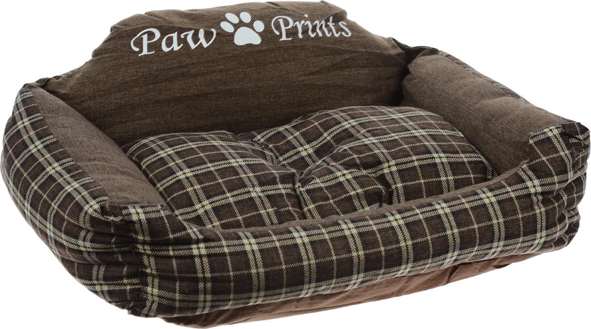 Лежак для животных Paw Prints, 73 x 61 x 29 см0120710Лежак для животных Paw Prints прекрасно подойдет для отдыха вашего домашнего питомца. Предназначен для собак средних пород. Изделие выполнено из прочной льняной ткани, декорированной принтом в клетку, и снабжено невысокими широкими бортиками. Внутри - наполнитель из полиэстерового волокна, который обеспечивает мягкость и упругость изделия. Лежак снабжен съемной подушкой. Основание изделия противоскользящее и водостойкое. Комфортный и уютный лежак обязательно понравится вашей собаке, животное сможет там отдохнуть и выспаться. Размер подушки: 55 х 45 х 10 см.