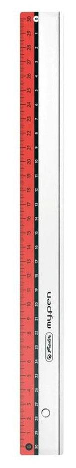 Herlitz Линейка My.pen 30 см цвет красныйFS-36052Линейка Herlitz My.pen с делениями на 30 см имеет четкую миллиметровую шкалу делений и подходит для измерения длины или черчения. Благодаря двойной разметке ее могут с равным успехом использовать как правши, так и левши. Линейка изготовлена из прозрачного пластика и устойчива к деформациям.Herlitz My.pen идеально подойдет для любого школьника или офисного работника.