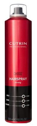 Cutrin Лак сильной фиксации Hair Spray Strong, 300 млMP59.4DОбеспечивает сильную фиксацию, оставляя волосы подвижными и эластичными. Позволяет выполнять укладку непосредственно в процессе нанесения продукта. Легко удаляется при расчесывании. Пантенол и натуральный бетаин оказывают на волосы ухаживающий эффект.