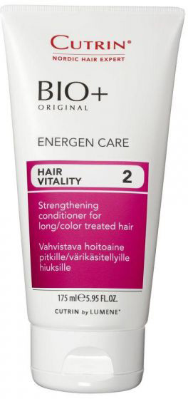 Cutrin Энергетический бальзам для женщин Energen Care, 175 мл2049499Укрепляет и питает длинные и окрашенные волосы. Может применяться совместно с любым из шампуней BIO+, наиболее эффективен в комплексе с Шампунем - энергия BIO+.