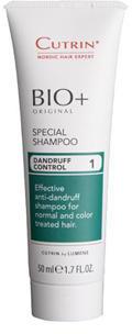 Cutrin Специальный шампунь против перхоти дорожный BIO+ Special Shampoo, 50 мл0861-11-4219Cutrin BIO + Energen Shampoo Специальный шампунь (дорожный) эффективное ухаживающее средство за любым типом волос. Шампунь создан специально для женщин, подходит для окрашенных, завитых и вьющихся волос, для постоянного использования в любых ситуациях. Сбалансированный состав шампуня, обогащенный всеми необходимыми питательными компонентами в сочетании с витаминным комплексом и экстрактом конского каштана, дает потрясающий результат и позволяет всегда и везде иметь красивые, ухоженные роскошные волосы.Шампунь прекрасно очищает волосы, стимулирует и нормализует выработку кератина, способствует предупреждению и замедлению образования седины и выпадения волос. Мягкая формула шампуня и прекрасно сбалансированный состав это глубокое питание, увлажнение и надежная бережная защита волос и кожи головы от воздействия любых стресс- факторов внешней среды.Cutrin BIO+ Energen Shampoo это сила, красота и здоровье ваших волос. Будьте всегда неотразимы и уверены в себе каждую минуту!