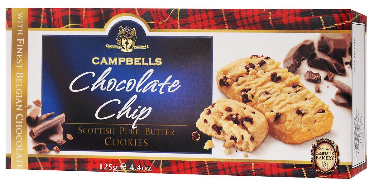 Campbells Pure Butter печенье песочное c кусочками шоколада, 125 г4014166, 4014062Campbells Pure Butter - ароматное песочное печенье c кусочками шоколада от известнейшего бренда из Шотландии. Рецепт приготовления этого вкуснейшего печенья состоит исключительно из высококачественных ингредиентов и не меняется вот уже много лет.