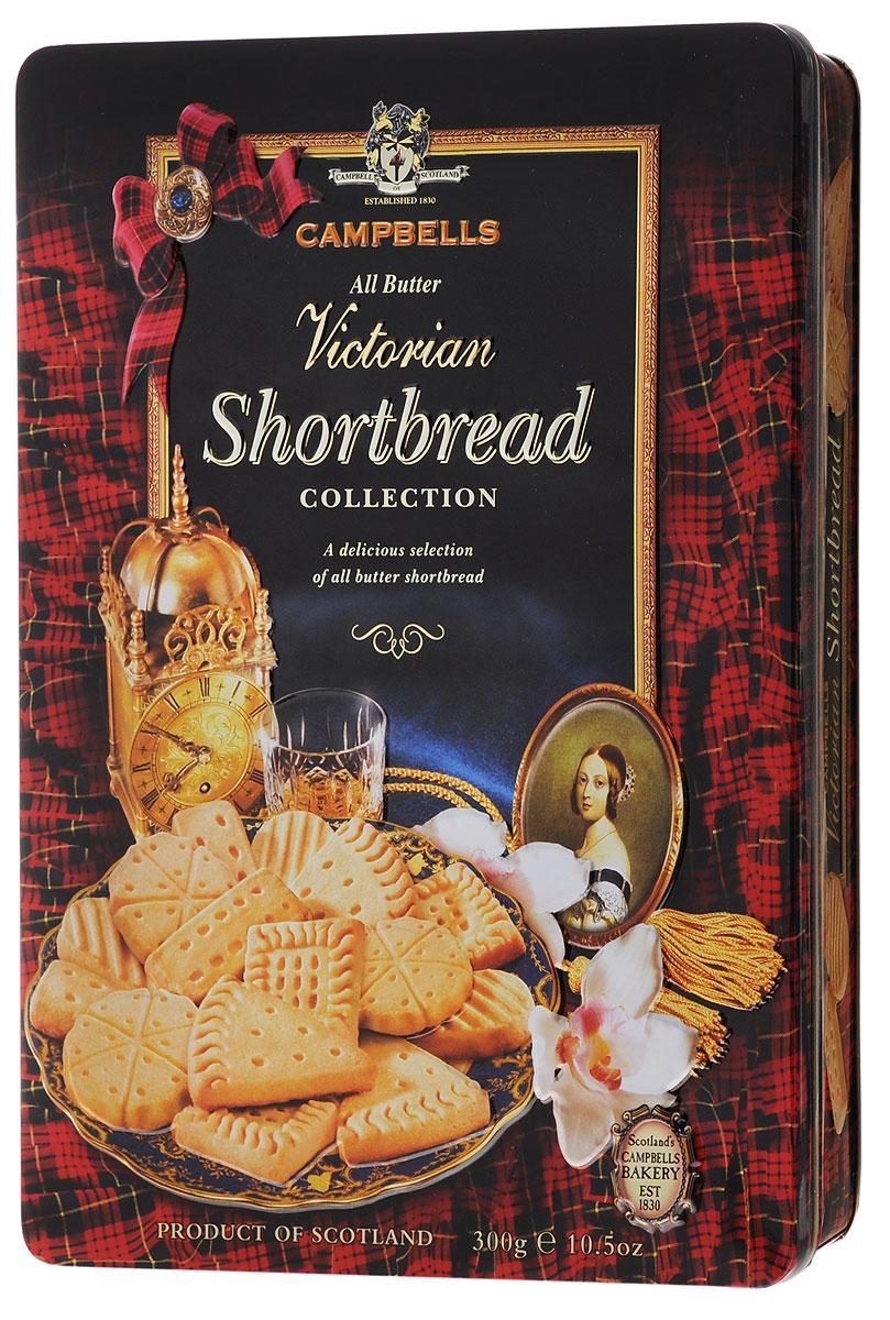 Campbells Victorian Shortbread печенье песочное, 300 г0120710Campbells Victorian Shortbread - легендарное песочное печенье из Шотландии. Производитель вот уже много лет не изменяет рецепт приготовления этого вкуснейшего печенья, который состоит преимущественно из натуральных ингредиентов.
