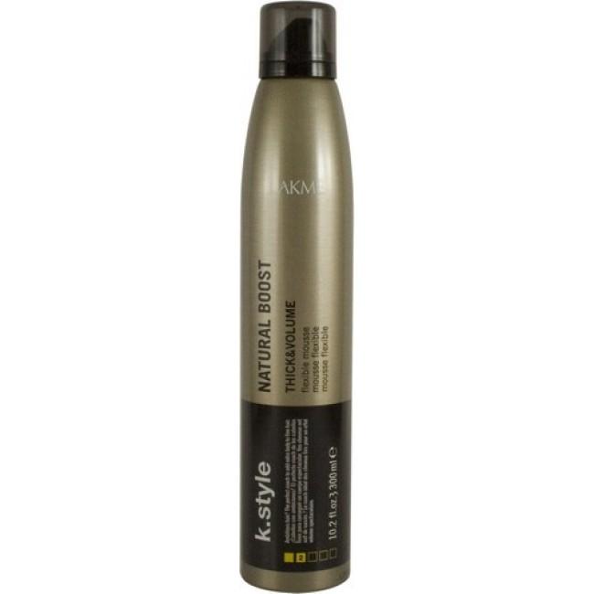Lakme Мусс для прикорневого объема Natural Boost Flexible Mousse, 300 млCHI0302Мусс для прикорневого объема Lakme K Style Natural Boost Эластичная фиксация. Пружинистый прикорневой объем. Идеально подходит для тонких волос. Устойчив к влажности. Древесно - травяной аромат. Степень фиксации - 2