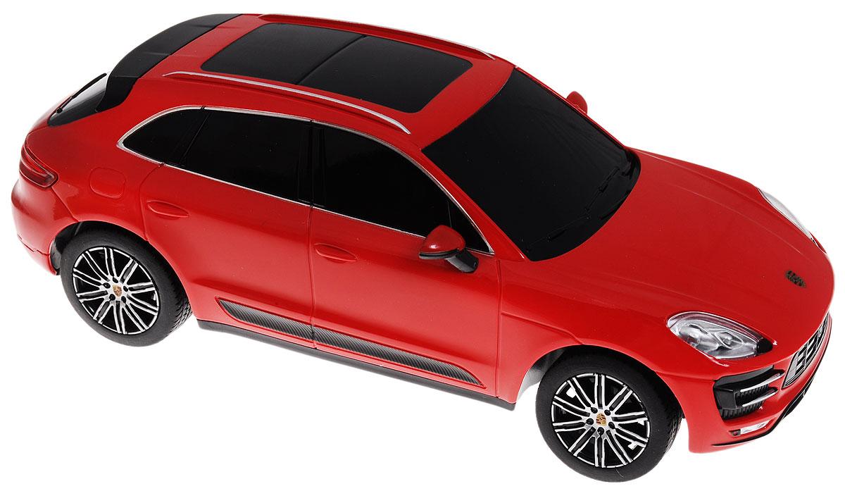"""Радиоуправляемая модель Rastar """"Porsche Macan Turbo"""" является точной копией настоящего автомобиля в масштабе 1/24. Управление автомобилем происходит с помощью удобного пульта. Машина двигается вперед и назад, поворачивает направо, налево и останавливается. Колеса игрушки прорезинены и обеспечивают плавный ход, машинка не портит напольное покрытие. Пульт управления работает на частоте 27 MHz. Радиоуправляемые игрушки способствуют развитию координации движений, моторики и ловкости. Ваш ребенок часами будет играть с моделью, придумывая различные истории и устраивая соревнования. Порадуйте его таким замечательным подарком! Машина работает от 3 батареек напряжением 1,5V типа АА (не входят в комплект). Пульт управления работает от 2 батареек напряжением 1,5V типа АА (не входят в комплект)."""