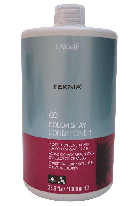 Lakme Кондиционер для защиты цвета окрашенных волос Conditioner, 1000 млFS-00897Специальная pH формула восстанавливает поврежденный кутикулярный слой волос. Надолго сохраняет цвет окрашенных волос, замедляя потерю пигмента. Кондиционер для защиты цвета окрашенных волос Lakme Teknia Color Stay Conditioner содержит WAA™ – комплекс растительных аминокислот, ухаживающий за волосами и оказывающий глубокое воздействие изнутри.