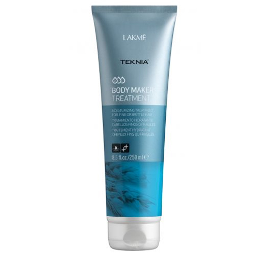 Lakme Средство увлажняющее для придания объема волосам Treatment, 250 млFS-00897Teknia Body Maker Shampoo - Шампунь для волос, придающий объем. Обогащенная пшеничными протеинами формула шампуня придает объем волосам, не утяжеляя их. Укрепляет структуру волос, питает, повышает прочность и утолщает волосы. Удаляет статический электрический заряд. Содержит WAA™ – комплекс растительных аминокислот, ухаживающий за волосами и оказывающий глубокое воздействие изнутри. Придает интенсивный блеск и легкость.