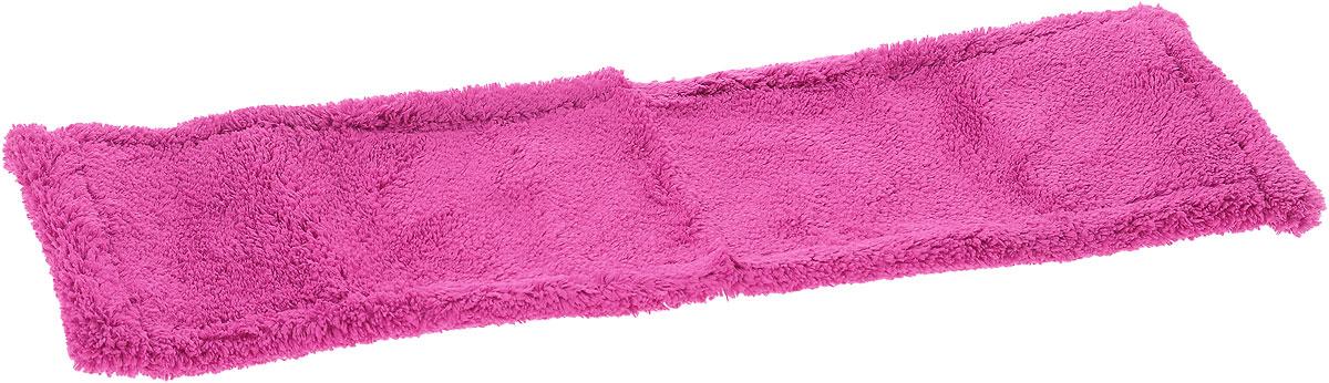 Насадка для швабры York Классик, сменная, цвет: малиновый. 8109K100Сменная насадка для швабры York Классик изготовлена из микрофибры (полиамид, полиэстер). Микрофибра обладает высокой износостойкостью, не царапает поверхности и отлично впитывает влагу. Насадка отлично удаляет большинство загрязнений. Насадка идеально подходит для мытья всех видов напольных покрытий. Она не оставляет разводов и ворсинок. Сменная насадка для швабры York Классик станет незаменимой в хозяйстве.Насадку можно стирать при температуре 40°С.Размер насадки: 40 х 14 х 1,5 см.