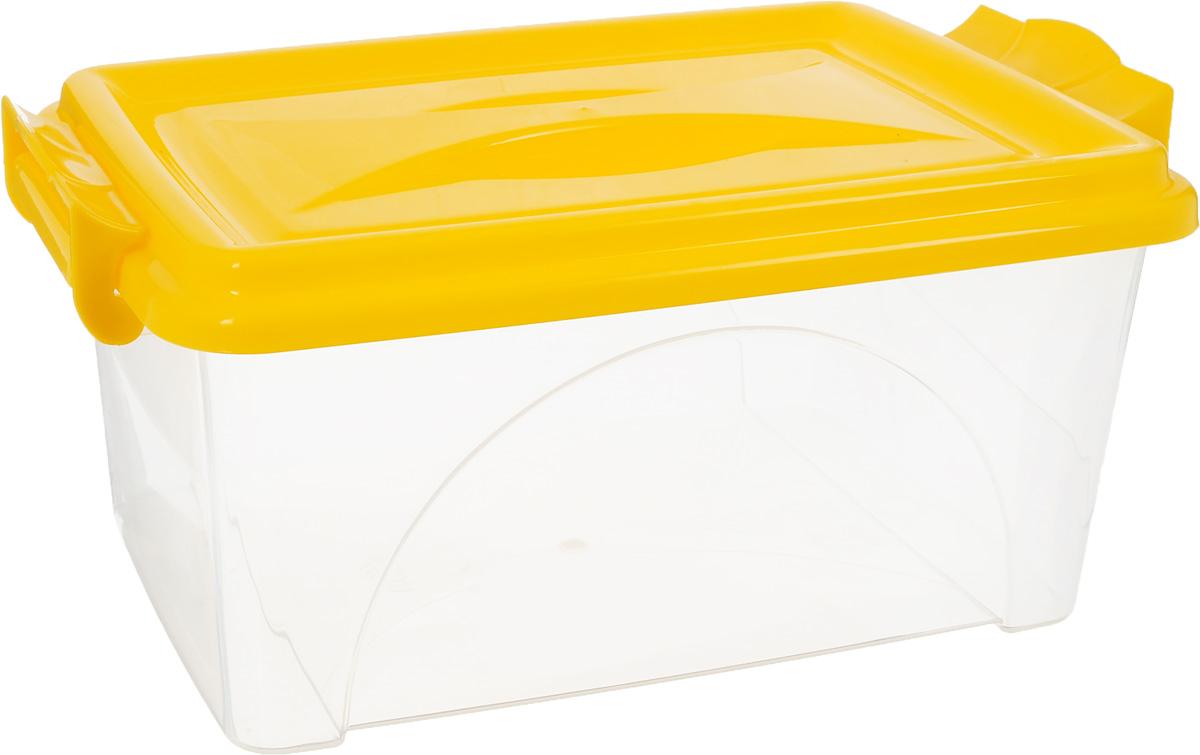Контейнер Альтернатива, цвет: желтый, прозрачный, 4,5 лМ419_желтый, прозрачныйКонтейнер Альтернатива изготовлен из высококачественного пищевого пластика. Изделие оснащено крышкой и ручками, которые плотно закрывают контейнер. Емкость предназначена для хранения различных бытовых вещей и продуктов.Такой контейнер очень функционален и всегда пригодится на кухне. Размер контейнера (с учетом крышки и ручек): 31,5 х 20 х 13,5 см.