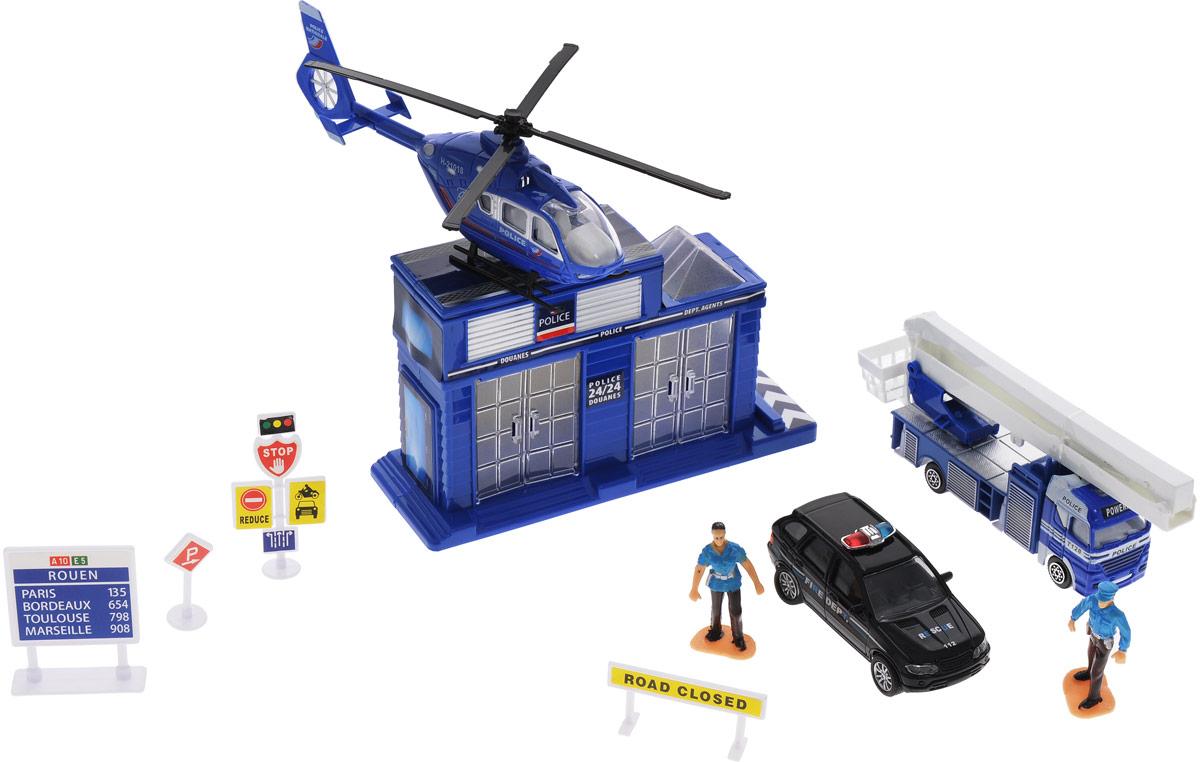 Junfa Toys Игровой набор Полицейский участок hti игровой набор полицейский в кейсе