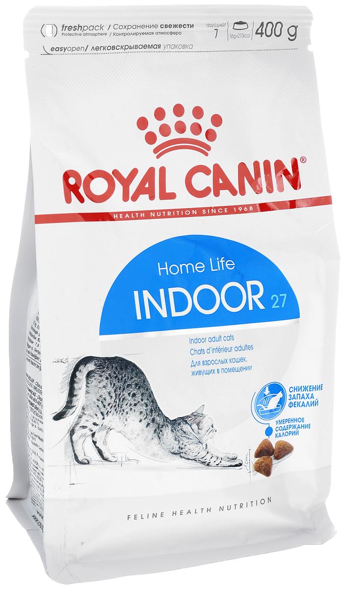 Корм сухой Royal Canin Indoor 27, для кошек в возрасте от 1 года до 7 лет, живущих в помещении, для ослабления запаха фекалий, 400 г4618Сухой корм Royal Canin Indoor 27 - полнорационное питание для кошек от 1 до 7лет, живущих в помещении.Кошка, постоянно живущая в помещении, ограничена в движении, поэтомубольшую часть своего времени она тратит на сон и прием пищи. Низкая активность кошки вызывает вялую работу кишечника и, как следствие,появление жидкого стула с резким неприятным запахом. У домашних кошек повышается риск появления избыточного веса.Ежедневное вылизывание шерсти приводит к образованию волосяных комочков вжелудке кошки.Ослабление запаха фекалий.Ослабляет запах фекалий кошки благодаря высокому содержанию L.I.P.Высокоперевариваемый корм Royal Canin Indoor 27 способствует значительномуослаблениюзапаха стула кошки в результате уменьшения выделения сероводорода -зловонного газа, выделяющегося из фекалий.Умеренное содержание энергии: способствует уменьшению жировых отложений укошек за счет умеренного содержания калорий и добавления L-карнитина (50мг/кг). Выведение волосяных комочков: стимулирует кишечный транзит благодарясочетанию ферментируемой и неферментируемой клетчатки.Состав: кукуруза, дегидратированное мясо домашней птицы, рис, изолятрастительного белка, пшеница, животные жиры, гидролизат белков животногопроисхождения, растительная клетчатка, минеральные вещества, свекольныйжом, соевое масло, фруктоолигосахариды, дрожжи, рыбий жир.Добавки (на 1 кг):Витамин А - 14700 МЕ, Витамин D3 - 800 МЕ, Е1 (железо) - 50 мг, Е2 (йод) - 5 мг, Е5(марганец) - 56 мг, Е6 (цинк) - 194 мг, Селен - 0,11 мг, консервант: сорбат калия,антиоксиданты: пропигаллат, БГА.Товар сертифицирован.Уважаемые клиенты!Обращаем ваше внимание на изменения в дизайне упаковки.