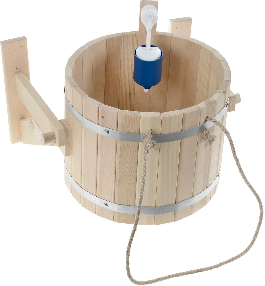 Обливное устройство Доктор баня, 20 лC0042416Обливное устройство Доктор баня состоит из деревянной емкости, двух кронштейнов и впускного клапана для воды. Обливное устройство изготовлено из деревянных шпунтованный клепок, склеенных между собой водостойким клеем и стянутых двумя обручами из нержавеющей стали. Внутри и снаружи устройство покрыто экологически безопасной мастикой на основе природного воска, который обеспечивает высокую степень защиты древесины от воздействия воды. Обливное устройство может монтироваться как к стенам, так и к потолку помещения. Обливное устройство предназначено для контрастного обливания после высоких температур парной в банях и саунах. Обливные устройства используются как внутри бани, так и снаружи. Рекомендуется периодически проверять прочность узловых соединений и надежность крепления к стене. Характеристики: Материал: дерево (кедр), металл, текстиль. Объем емкости: 20 л. Диаметр емкости: 34 см. Высота стенок емкости: 31 см.