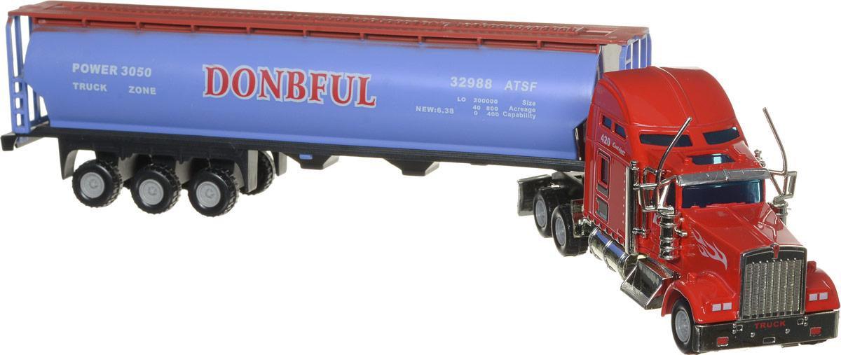 Junfa Toys Грузовик цвет голубой красный junfa toys трактор инерционный ranch world цвет красный
