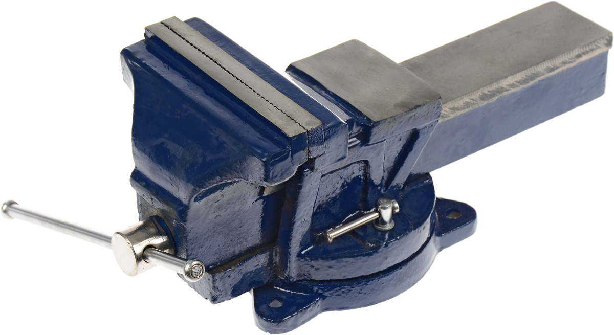 Тиски слесарные Dexx, с поворотными механизмом, 15 смCA-3505Тиски Dexx с усиленным корпусом изготовлены из высококачественной стали. Оснащены поворотным механизмом и небольшой наковальней. Основание закрепляется болтами к верстаку для обеспечения стабильности (не входят в комплект). Поворотное основание с фиксацией для универсальности.Ширина губок: 15 см.Ширина раскрытия: 17 см.