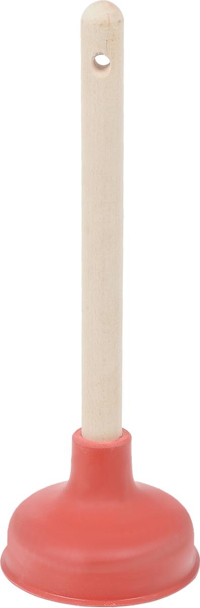 Вантуз Burstenmann, цвет: красный, светло-коричневый, высота 38 см531-105Вантуз Burstenmann, выполненный из прочного полиэтилена и дерева, является инструментом для прочистки ванн, раковин, сливов, унитазов. Вантуз прост в использовании, справиться с ним может любая домохозяйка, которой надоели проблемы с канализацией.Высота вантуза: 38 см.Диаметр присоски: 14 см.