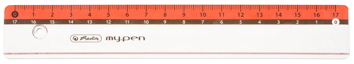 Herlitz Линейка My Pen цвет красный 17 см263396_голубойЛинейка Herlitz My Pen с делениями на 17 см выполнена из прочного неломающегося пластика, обладает четкой миллиметровой шкалой делений. Линейка удобна для измерения длины и черчения. Подходит для правшей и левшей.