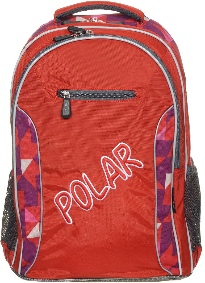 Рюкзак детский городской Polar, 26 л, цвет: оранжевый. П0082-02Z90 blackШкольный рюкзак Polar. У рюкзака 2 отделения и несколько карманов для мелких принадлежностей. В большом отделение имеется карман под ноутбук диагональю 14. Спинка эргономичной формы, повторяет контур спины ребенка, тем самым равномерно распределяет нагрузку на позвоночник. Полумягкое дно для безопасности ношения. С обеих сторон имеются карманы для бутылок с водой. Светоотражатели спереди и сзади школьного рюкзака. Гибкая петля для того, чтобы подвесить ранец на крючок. Подходит для 1-6 классов.