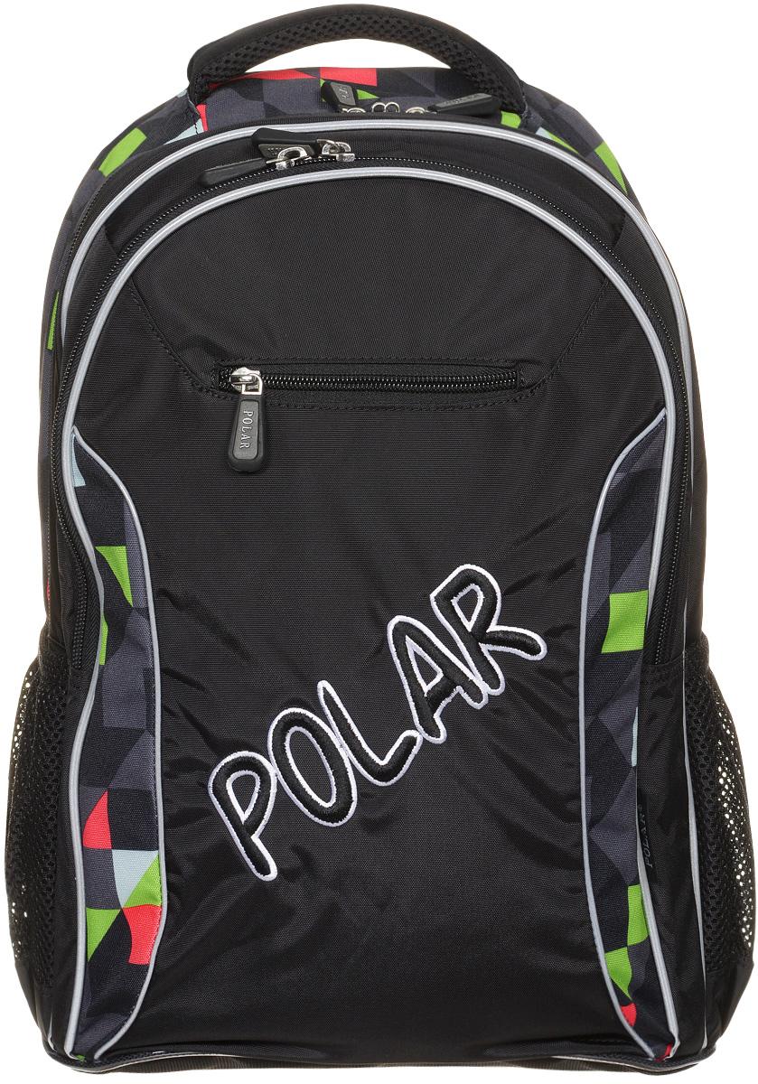 Рюкзак детский городской Polar, 26 л, цвет: черный. П0082-05П0082-05Школьный рюкзак Polar. У рюкзака 2 отделения и несколько карманов для мелких принадлежностей. В большом отделение имеется карман под ноутбук диагональю 14. Спинка эргономичной формы, повторяет контур спины ребенка, тем самым равномерно распределяет нагрузку на позвоночник. Полумягкое дно для безопасности ношения. С обеих сторон имеются карманы для бутылок с водой. Светоотражатели спереди и сзади школьного рюкзака. Гибкая петля для того, чтобы подвесить ранец на крючок. Подходит для 1-6 классов.