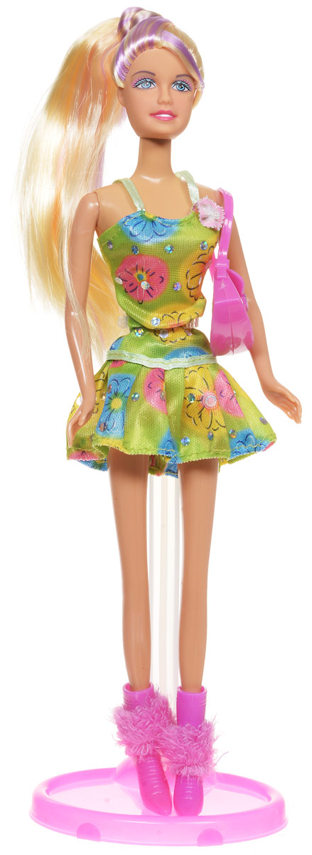 Defa Кукла Lucy цвет платья зеленый желтый голубой кукла defa lucy 8305a