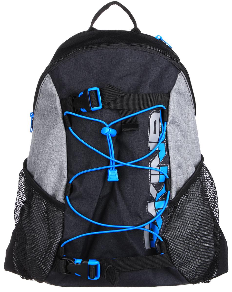 Рюкзак Dakine DK WONDER 15L TABOR. 08130060Z90 blackГородской однообъемный рюкзак. Лямки для переноски скейтборда, резиновый шнур для закрепления вещей снаружи. Два кармана побокам из сетки.
